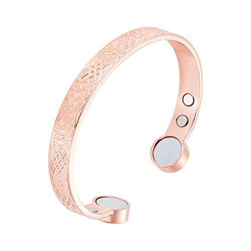 Rosian & Levine Magnetic Healing Copper Bracelets for Rheumatoid Arthritis, Migraine & Pain Relief, Osteoarthritis, Menopause Support, Hot Flushes, Carpal Tunnel Women Men Perfect Christmas Xmas Gift