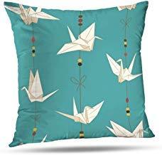 GFGKKGJFF - Funda de cojín con grullas de Origami y grulla Japonesa Tradicional, 18 x 18 Pulgadas, para decoración del hogar, Sala de Estar, Fundas de Almohada