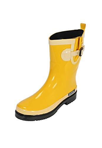 MADSea Damen Gummistiefel Ocean Pure Gelb Halbschaft Regenstiefel, Größe:38 EU