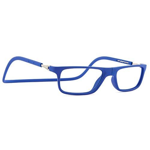 DIDINSKY Magnetische Blaulichtfilter Brille für Damen und Herren. Blaufilter Brille für Gaming oder Pc. Gummi-Touch-Tempel und Blendschutzgläser. Klein +1.5 FARADAY