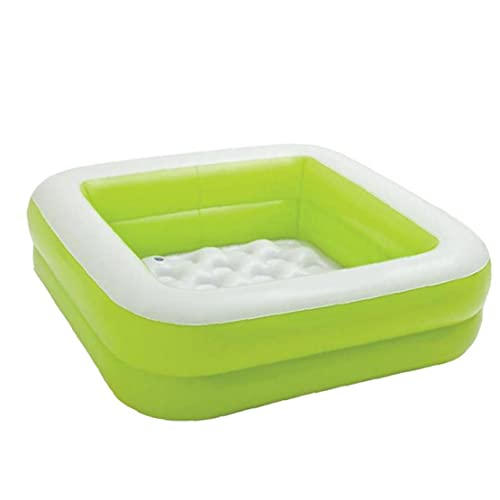 Opblaasbare kiddie zwembad, draagbare rechthoekige peuters blazen peddelen zwembad, groen, baby badpool,
