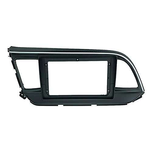 HSMIN 2 Instalación de Radio de automóvil DIN 9 Pulgadas DVD GPS MP5 PLÁSTICO PLÁSTICO FASTICA Camino Ajuste para Hyundai Elantra 2019+ Dash Mount Kit (Color Name : U0086 Only Frame)