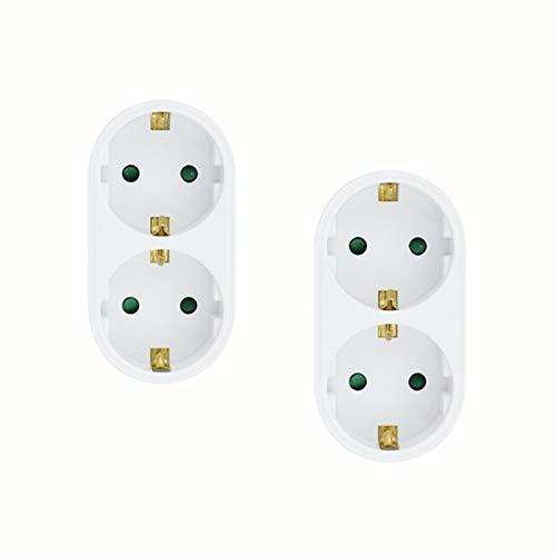 1 bis 2 Wege Europäische Umwandlung Stecker Adapter 16A 250V 3500W Reisestecker Umwandler… (A)