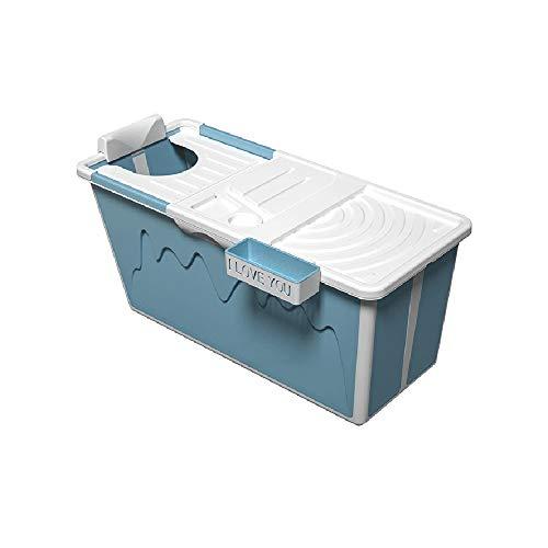 Folding bathtub Badewanne für Erwachsene Großer Badeeimer Ganzkörper-Haushaltsbadewanne Schiebedeckel Isolierabdeckung Optimales PP-Material in Lebensmittelqualität