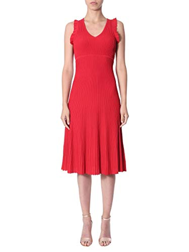 Michael Kors Luxury Fashion Damen MS98YMMBFD610 Rot Elastan Kleid   Jahreszeit Outlet