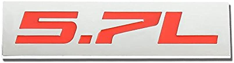 UrMarketOutlet 5.7L Red/Chrome Aluminum Alloy Auto Trunk Door Fender Bumper Badge Decal Emblem Adhesive Tape Sticker