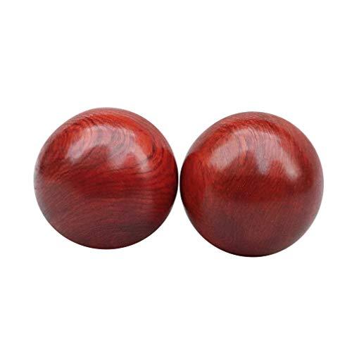 Exceart 2 peças de bolas de banho chinesas para estresse com bola de medicina chinesa sem zumbido de 6,35 cm, bola de exercícios de terapia manual (5 cm), Vermelho, 5cmX5cm