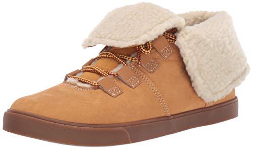 Timberland Dausette Fleece Fold Down Boot Fashion, Wheat Nubuck, 095M M US