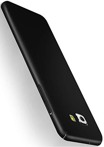 MoEx® Alpha Case kompatibel mit Samsung Galaxy A5 (2016) Hülle Dünn | Ultra-Slim Handyhülle - Metallic Schutzhülle Handy Cover, Matt Schwarz
