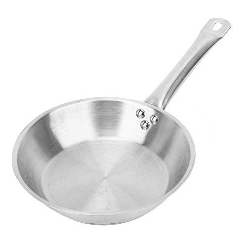 AABBC Sartén de Acero Inoxidable, sartén para cocinar de 9.2 Pulgadas Sartén de Acero Inoxidable para Utensilios de Cocina Suministros de Utensilios de Cocina (Acero Inoxidable)