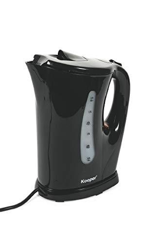 Bouilloire électrique en plastique noir 2 l 2200 W