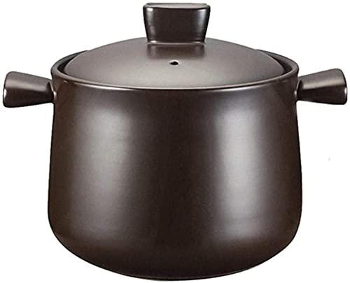 HYYDP Cacerolas Cazuela de Arcilla Pot Terracotta Stef Pot Casserole Caserole - Resistencia de Alta Temperatura, Calefacción Uniforme, Temperatura y retención del Gusto