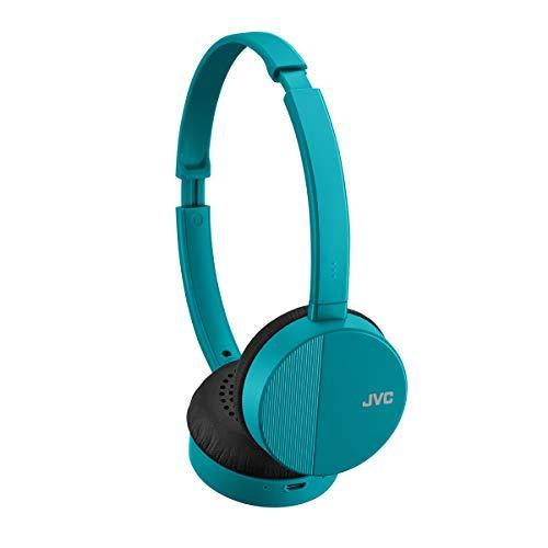 JVC HA-S23W Wireless Headphones - On Ear Bluetooth Headphones, Foldable Flat Design, 17-Hour Long Battery Life (Green)
