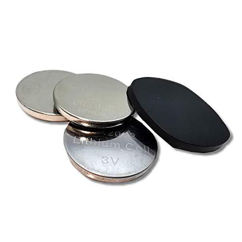 Berry King bestbeans© Heartbeat Ersatz-Batterien CR2032 und Öffnungsclip für Sensor - Auch für Heartbeat 2 geeignet - CR2302 Knopfzellen-Batterien für Brustgurt (Ersatzbatterien)