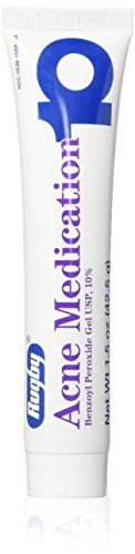 Benzoyl Peroxide 10 % Generic for Persa Gel 10 Maximum Strength Acne Medication Gel for Treatment and Prevention of Acne Pimples, Acne Blemishes, Blackheads or Whiteheads. 1.5 oz. per Tube Pack 6 Total 9 oz.