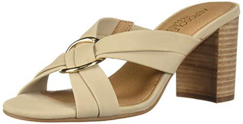 Aerosoles Women's HIGHWATER Heeled Sandal, Bone Nubuck, 9 M US
