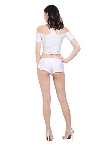 ツルツルニット ゆったりさが可愛すぎる ショートパンツ ホットパンツ 特大サイズ, 白