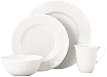 4-Piece Lenox Opal Innocence Carved Place Setting