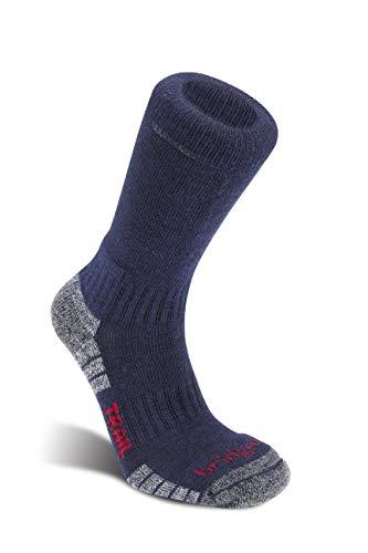 Bridgedale HIKE Bottes de sport légères en laine mérinos pour homme L bleu marine/gris