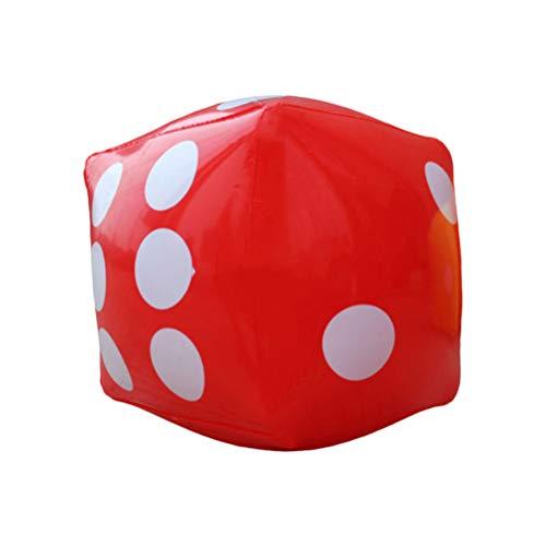 Toyvian Aufblasbare Würfel, PVC, 25 cm, Lernspielzeug, für Kinder, Würfel, Lernspielzeug, Jahreszuspielzeug, Zubehör für Kinder, TV-Bar (rot)