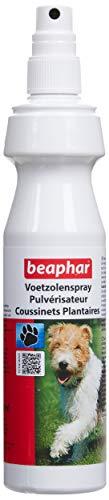BEAPHAR – Pulvérisateur pour coussinets du chien – À l'huile d'arbre à Thé, Glycérine & Cire d'abeille – Adoucit les coussinets & contre les crevasses – Protège du froid/chaleur/irritations – 150 ml
