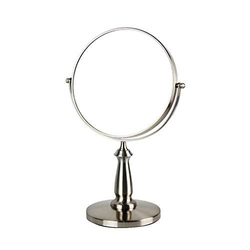 Miroir de Maquillage Miroir de Bureau Miroir de Bureau à Double Face en Forme de loupe Miroir en métal rétro de 360 degrés (Color : 13 * 34CM)