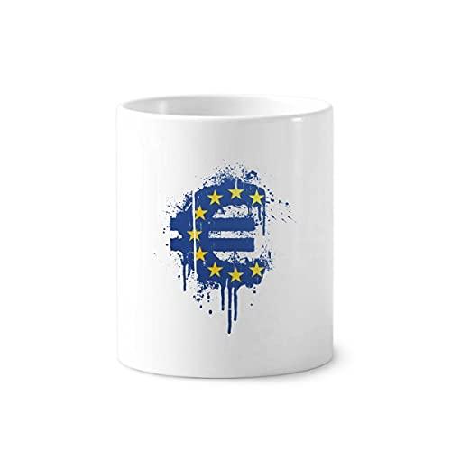 Unión Europea Monetaria Símbolo Cepillo de Dientes Pluma Titular Taza Cerac Stand Lápiz Copa