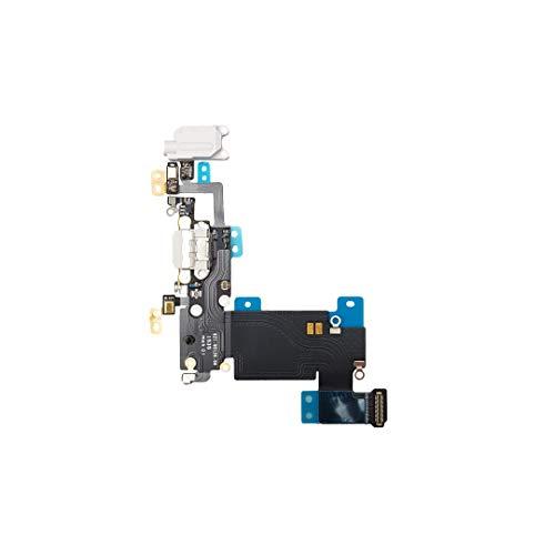 Smartex® Conector de Carga de Repuesto Compatible con iPhone 6S Plus Gris Claro - Dock de repeusto con Cable Flex Antena y Micrófono