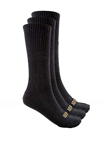 1893 Black 3 pairs Mid-Calf Book Sock (Large)