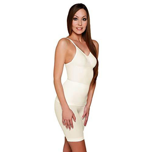 Skin Wrap Shapewear Damen - Unterhemd Bauchweg Hemd Body Shaper Damen Shaping Unterwäsche Damen Top - leicht & formend in Champagner Größe L