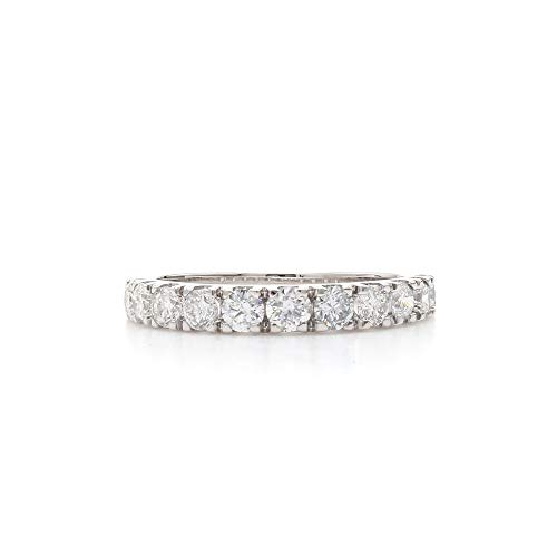 14k White Gold Lab-Grown Diamond Wedding Ring Band (1.00 cttw, F-G Color, VS-SI Clarity) Size 7
