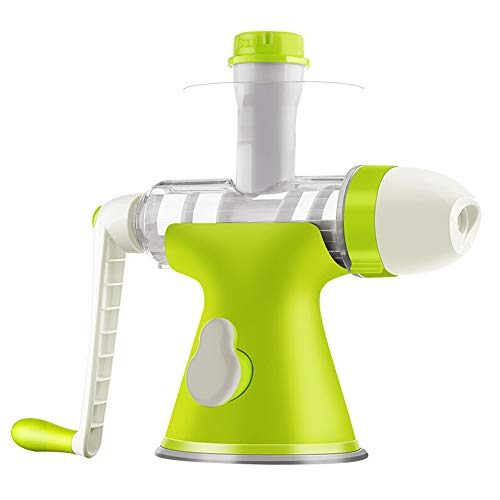 xxz Masticating Slow Juicer, Multifunctional Single Auger Manual Hand Juicers Easy to Clean Residue Separation, for Using in Home Kitchen green