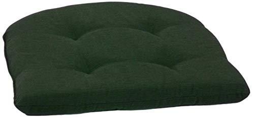 Beo Sitzkissen Stuhl 41x41 Halbrund   Atmungsaktives Sitzkissen Gartenstuhl Made in EU   UV-beständiges Sitzpolster Gartenstuhl   Stuhlkissen Outdoor waschbar   Sitzkissen Bank in Dunkel-Grün
