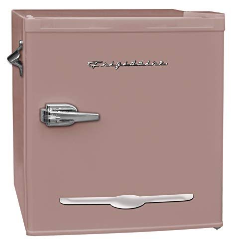 Frigidaire EFR176-CORAL 1.6 cu ft Coral Retro Fridge with Side Bottle Opener. for The Office, Dorm Room or Cabin