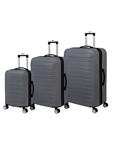 it luggage Legion 3 Piece Hardside Expandable Set, Neutral Grey