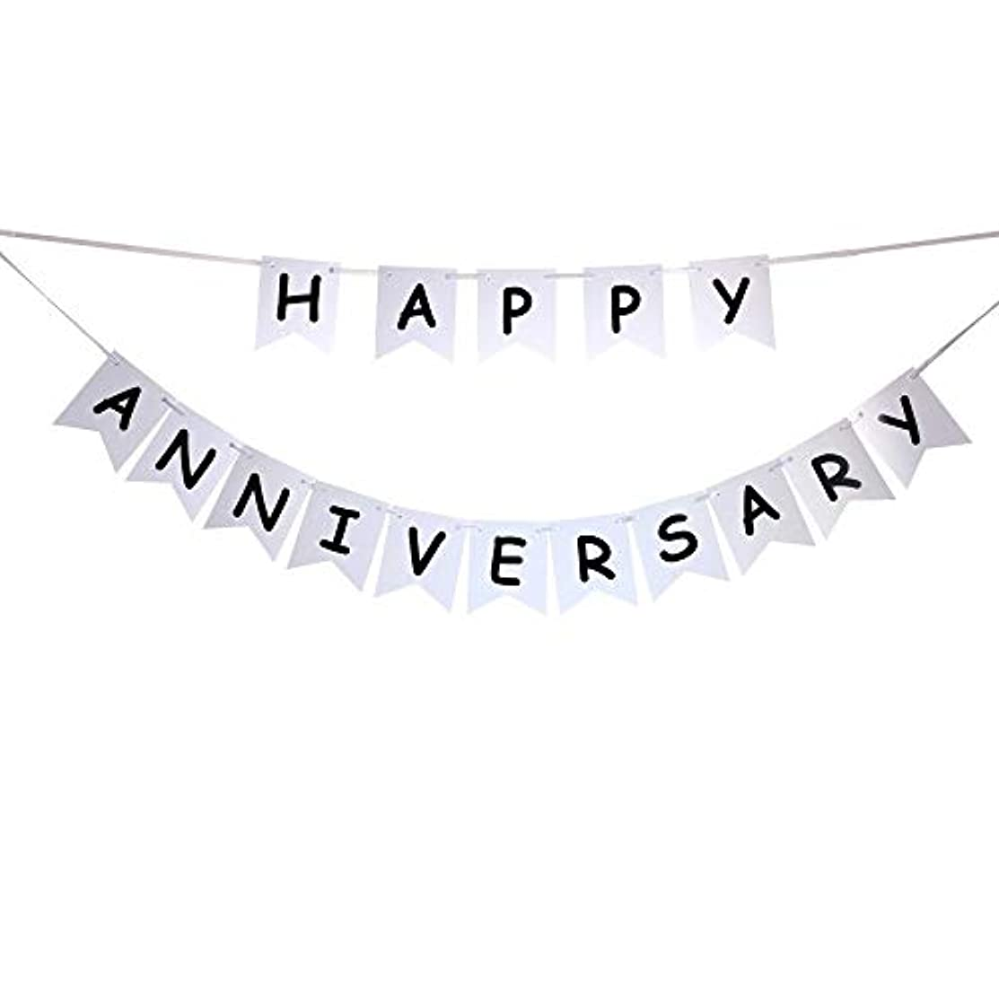 Happy Anniversary Banner for Anniversary Party Décor Gold Banner Pertlife