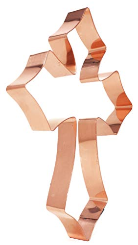 7 inch Passion Cross Extra Large Copper Cookie Cutter by The Fussy Pup