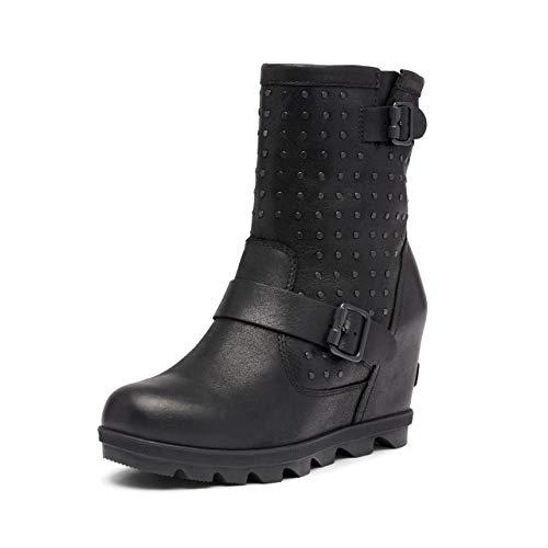 Sorel Joan of Arctic Wedge II Boot Stud Black 8 B (M)