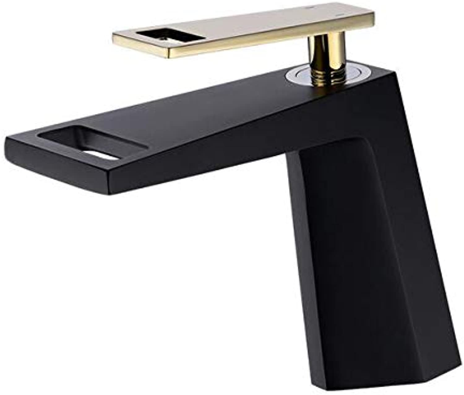 Bathroom Copper hot and Cold Waterfall Single Hole Bathroom Creative wash Basin Basin Faucet