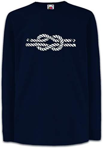 Urban Backwoods Sailor\'s Knot III Kinder Kids Mädchen Jungen Langarm T-Shirt Blau Größe 12 Jahre