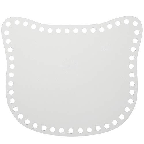 GORGECRAFT Acrylbeutel Webbrett 2 Stück Cat Shape Blank Häkelkorb Basis für DIY Stricken Häkeltasche Handtasche Geldbörse Sommertasche, 6,4 Zoll