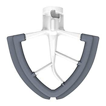 4.5/5 Quart Flex Edge Beater for Kitchenaid Stand Mixer 4.5-5 QT Tilt-Head Flex Edge Beater Paddle Attachment Accessory with Flexible Silicone Edges Bowl Scraper