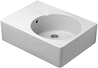 Scola Console Porcelain Bathroom Sink with Overflow