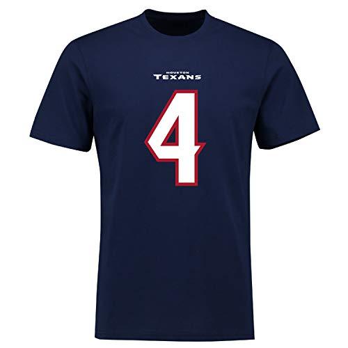 Fanatics NFL Houston Texans Deshaun Watson #4 Name Number Shirt Jersey Trikot (M)