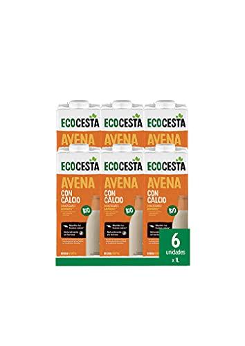 Ecocesta Mejor Cada Día Bebida Vegetal De, Caja De 6 X 1 L, Avena Con Calcio Bio, 6000 Mililitro, 6 Unidades