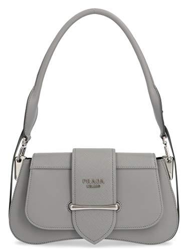Prada Luxury Fashion Damen 1BD228VOJN2BB0F0424 Grau Leder Handtaschen | Jahreszeit Permanent