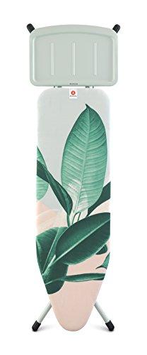 Brabantia Bügelbrett B, massiv Dampf Einheit Halter, Minze Rahmen, Stahl, tropischen Blätter,