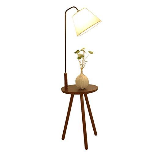 QIDI Lampadaire Solide Bois Salon Chevet Chambre Table Basse Lampe 140 * 40 * 38cm (Couleur : Style 2)