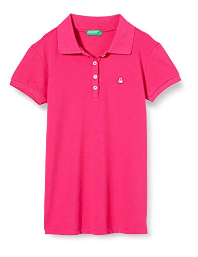 United Colors of Benetton Mädchen Maglia Polo M/M Poloshirt, Pink (Pink Peacock 2l3), Gr.100 CM/3-4Y (Herstellergröße:XXS)