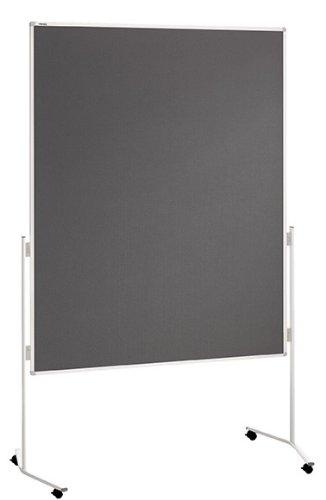 Franken ECO-UMTF12R Moderationstafel, 120 x 150 cm, Filz grau
